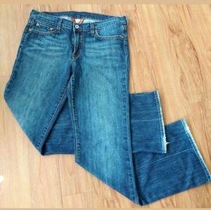 Lucky Brand Blue Denim Distress Jeans Size 10/30b